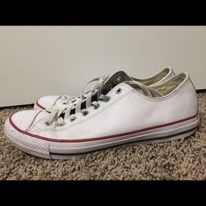 Leather Converse All-star Chuck Taylors Size 10